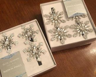 Rhinestone snow flake napkin holders