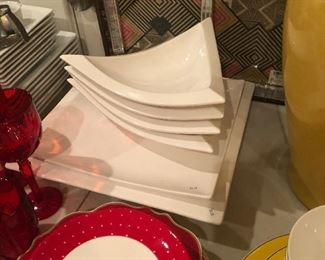 Large designer serving pieces