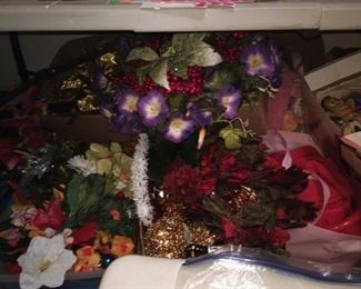 Lots of flowers.... Lots of floral arrangements. My husband really took his time and wrapped most of them together.