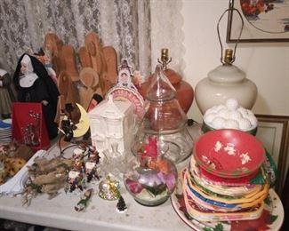 More seasonal items, MCM lamps.