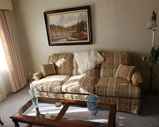 Picture 40.00. Sofa 50.00coffee table 45.00