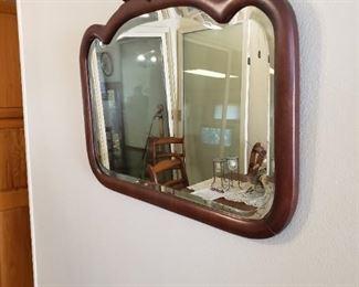 Bevel glass antique mirror 45.00