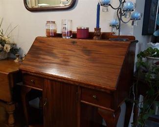 Antique drop front desk 195.00