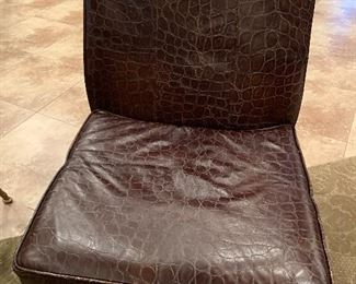 Leather chair by Lane Embossed leather chair