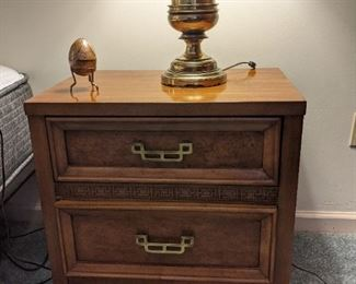 Mandarin nightstand,  1 of matching pair