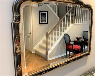 Chinoiserie beveled decorative mirror. Details and pricing will be available on November 19th after 6 p.m. at https://shop.mlestatesales.com