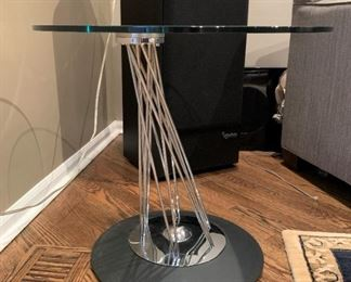 Modern metal and glass table.  Details and pricing will be available on November 19th after 6 p.m. at https://shop.mlestatesales.com