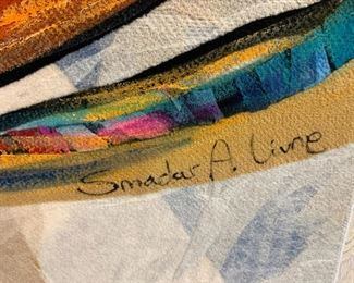 Smadar Livne large textile art. Details and pricing will be available on November 19th after 6 p.m. at https://shop.mlestatesales.com