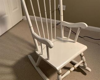 Child's rocking chair. Details and pricing will be available on November 19th after 6 p.m. at https://shop.mlestatesales.com