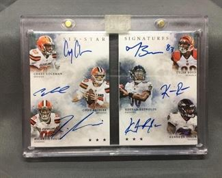 2016 Panini Origins Six-Star Signatures with 6 Autographs Football Card - Tyler Boyd & More Rookies!