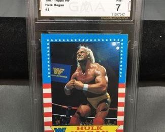 GMA Graded 1987 Topps WWF Wrestling HULK HOGAN Wrestling Card - NM 7