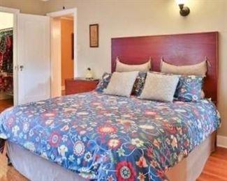 """#29.  125.00. Queen bed Headboard 57.5""""h X 62""""w"""