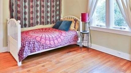 """#35.  $100.00. White twin bed 39""""h  X 42""""w"""