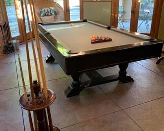 """#101 $400.00. Beautiful Pool table with all the accessories!   32""""H X 57""""W X 101""""L  professional  mover recommended.  I have names of movers."""