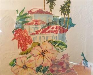 """Paradise"" By Jonna White, Lucite Frame"