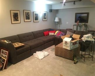 Grey Sectional Clean and like new