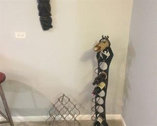 Steel Wine Rack Sculpture