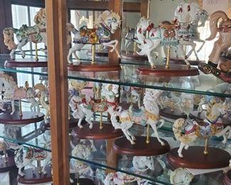 Lenox Carousel Horses all with COAs