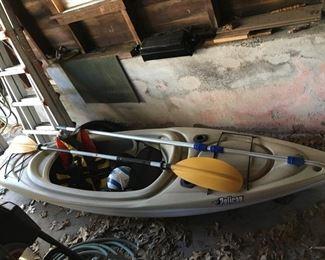 Pelican Kayak with oars, life jacket.
