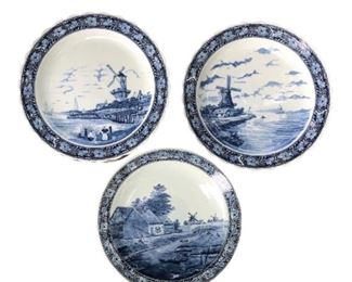 Vintage Delft Charger Wall Plates