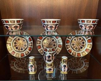 Royal Crown Derby Old Imari- 6 salad/dessert plates 6 bowls and other assorted pieces