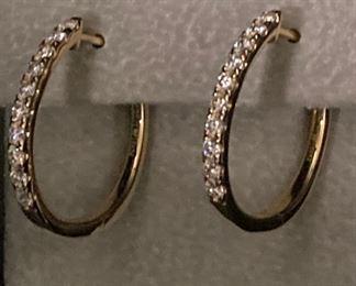 .71 Carat Diamond Hoops