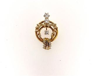 2.60 ct diamond pendent in 14k gold
