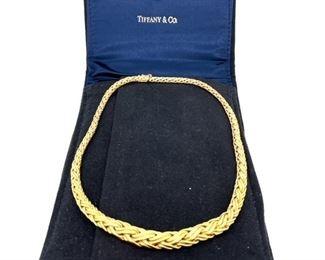 18k Gold Tiffany necklace