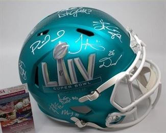 Super Bowl 54 KC Chiefs Helmet - Signed Turquoise Helmet - 1 of 18 Limited Edition