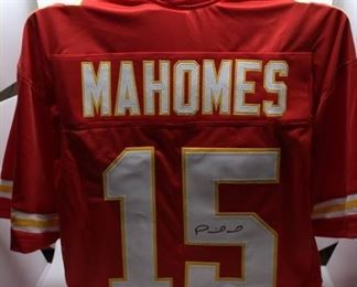 Patrick Mahomes Jersey Autographed