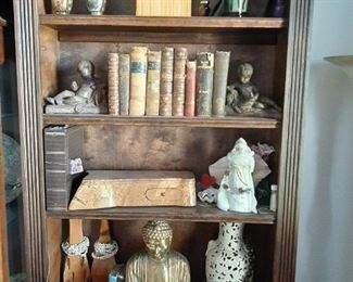 bookcase and old books