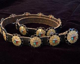 $500 (now $375) Vintage Zuni sunface concho belt