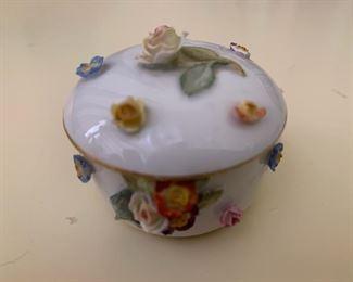 $50 (now $25)  Small antique Meissen floral box