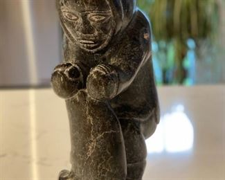 Inuit sculpture - Hunter w Seal - artist not known