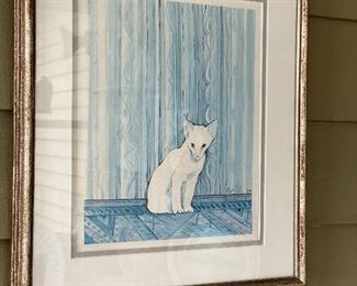 Untitled / White Cat from Texas by Moss
