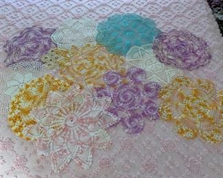 REDUCED!  $22.50 NOW, WAS $30.00..............Antique Hand Made Doilies (P823)