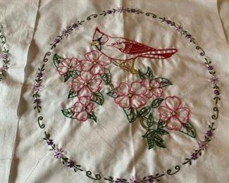 Close up: 18 Hand Embroidered Squares (P446)