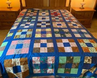 """REDUCED!  $60.00 NOW, WAS $80.00..............Hand Pieced Quilt Topper,  75"""" x 87"""" (P434)"""