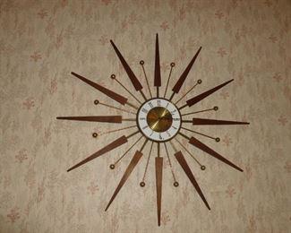 Awesome Mid-Century Starburst Clock