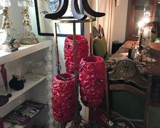 Lucite Spaghetti Globe Lamp