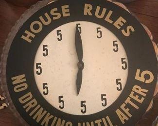 Mid Century Bar Clock