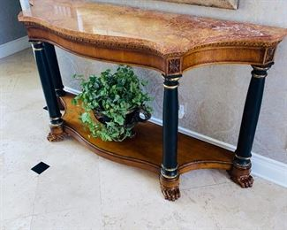$1,200 HALLWAY CONSOLE TABLE WITH MARBLE TOP RETAIL $3,400