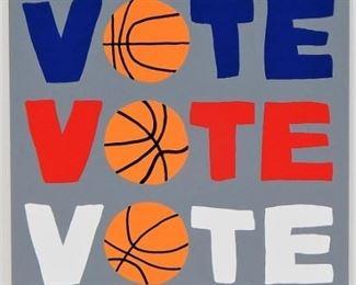 Jonas Wood Vote Modernist Basketball Screenprint