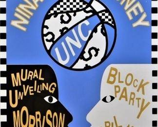 Nina Chanel Abney UNC Mural Unveiling Screenprint