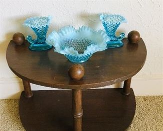 TABLE $45, 3 Fenton Bowls SOLD