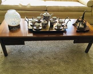 Coffee Table $75, Brass Bracket SOLD, Brass Tray SOLD