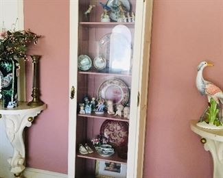 White and Gold Curio Cabinet $150, SOLD