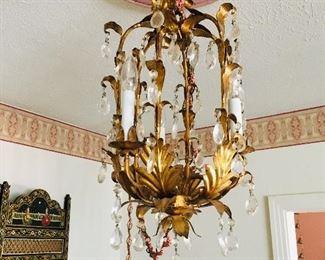 Italian Tole chandelier, formal living room, $300 SOLD