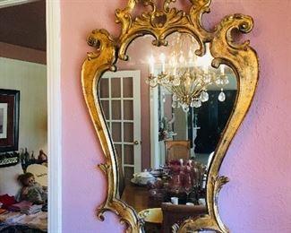 Large Gold Gilt Mirror, $400