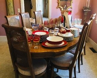 Dining Table with 8 Chairs, $495